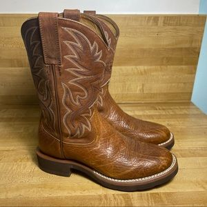 Ariat Work Boots F200032 Leather Mens 7.5D Western
